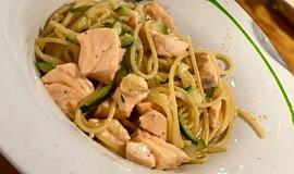 Špagety s lososem