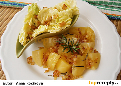 Brambory na zázvoru a citronové šťávě z mikrovlnky