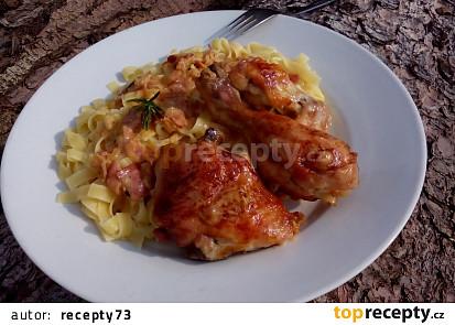 Nedělní kuře s těstovinami