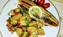 Pečená uzená ryba v papilotě