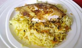 Šťavnatá kuřecí  prsa, pečená v rýži