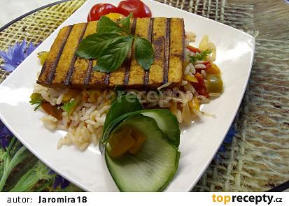 Grilované tofu s rýží