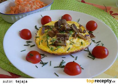 Mini omeletky s opečeným kachním masem