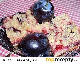 Švestkový koláč bez kynutí