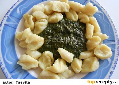 Bramborové noky se špenátem (Dělená strava podle LK - kytičky+zelenina)