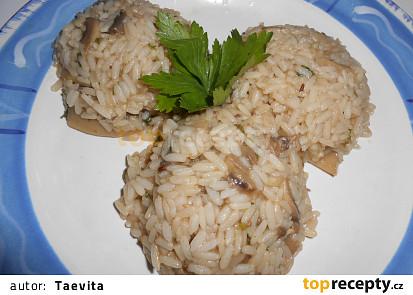 Žampionové (Houbové) rizoto. /Dělená strava podle LK - Kytičky+zelenina/