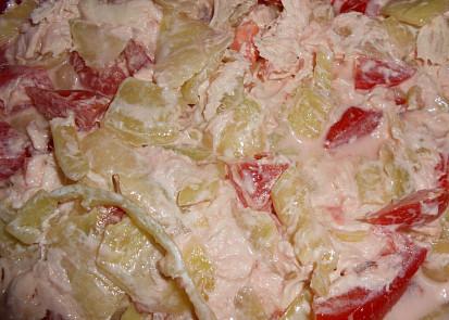 salát s vařeným masem