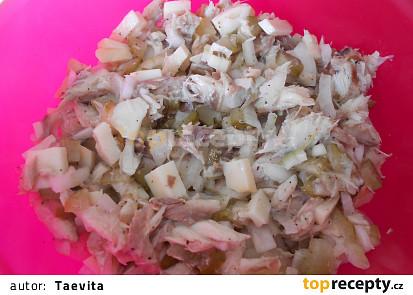 Salát s uzenáčem  (Dělená strava podle LK - zvířata)