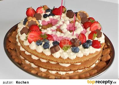 Skládaný medový dort