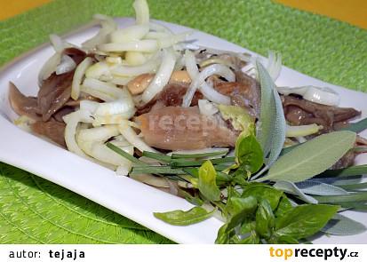 Cibulovo-hlívový salát