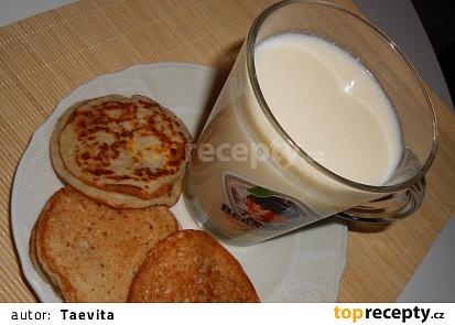 Kysané rostlinné mléko+lívanečky z kysaného rostl. mléka