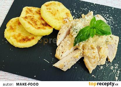 Kuřecí kousky s bramborovými plackami