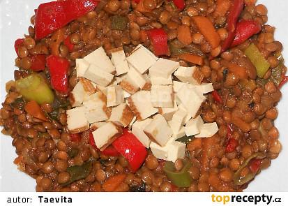 Barevná čočka  (Dělená strava podle LK - kytičky + zelenina)
