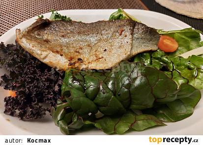 Filet ze pstruha na listovém salátu