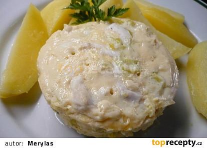 Kuřecí směs se sýrem a pórkem v parním hrnci i s brambory