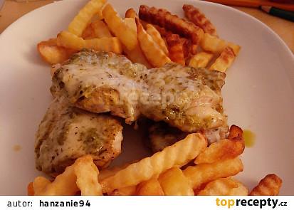 Kuřecí maso s bazalkovým pestem a Parmazánem