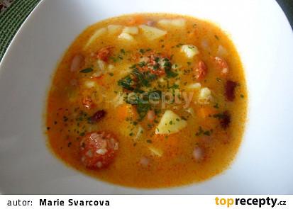 Podzimní barevná polévka