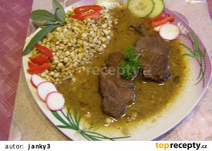 Hovězí pečeně na šalvěji a česneku se slzovkou