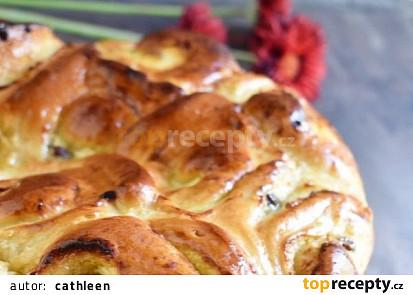 Růžicový koláč s tvarohem a borůvkami