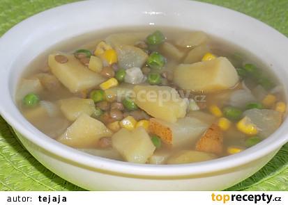 Čočková polévka s hruškou
