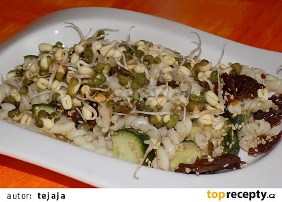 Těstovinový salát s klíčky mungo