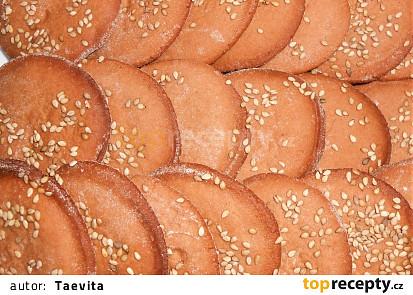 Sušenky tahini  (Dělená strava podle LK - Kytičky)