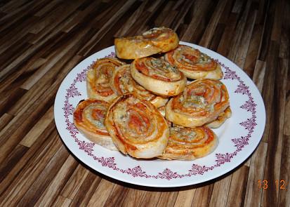 Sýrové šneky z 1 listového těsta