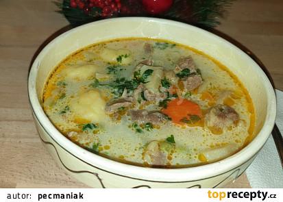 Tirpácka polévka s knedlíčky