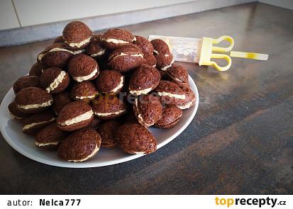 Ořechy s krémem z Mila sušenek