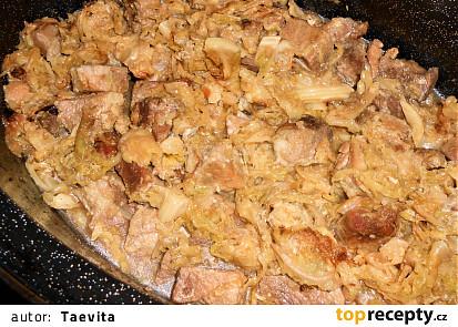 Vepřová plec pečená v kapustě  (Dělená strava podle LK - Zvířata)