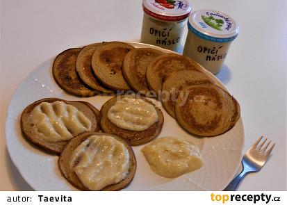 Banánové lívanečky s opičím máslem (Dělená strava podle LK - Zvířata, Vg)