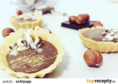 Karamelové tartaletky s čokoládou