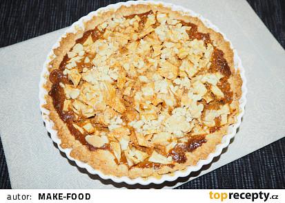 Luxusní jablečný koláč s karamelem