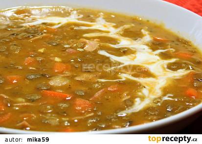 Jemná čočková polévka