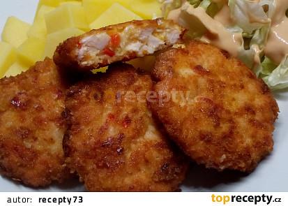 Kuřecí řízky s uzenou mozzarellou