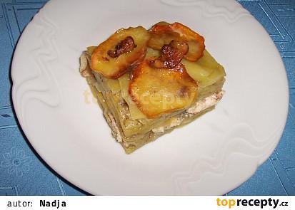 Kuře v bramborách zapečené se smetanou