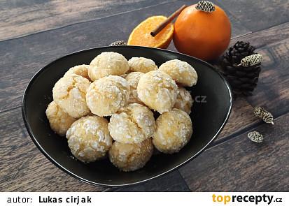 Kokosovo-pomerančové crinkles sušenky