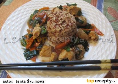 Kuřecí čína s pórkem