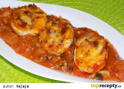 Zapékaná vajíčka s gorgonzolou