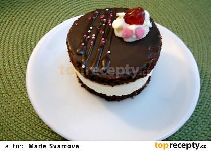 Černo-bílé dortíky