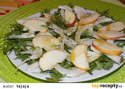 Jablkovo-fenyklový salát