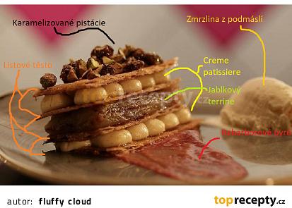 Apple pie mille-feuille (jablečný koláč mille feuille)