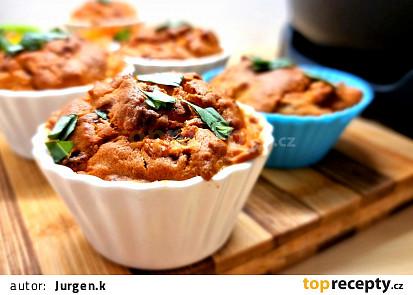 Mozzarellové muffiny (pečené v remosce)