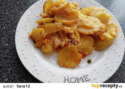 Pečené brambory se smetanou
