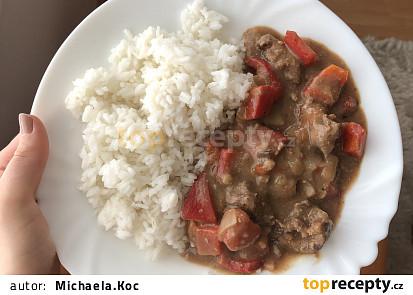 Gruzínská játra s rýží