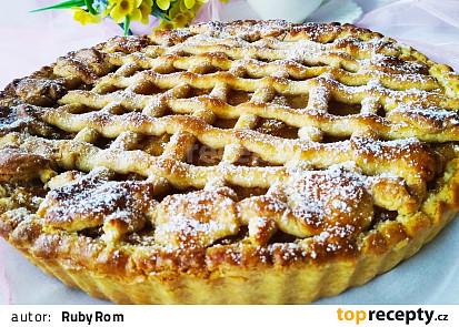 Křehký mřížkový koláč s jablky