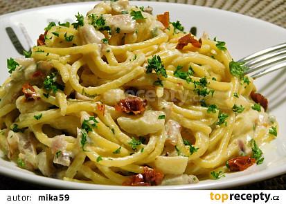 Rychlé krémové špagety