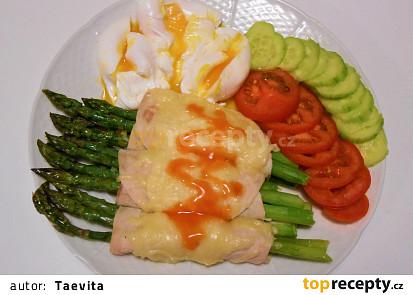 Zapékaný chřest a pošírovaná vejce  (Dělená strava podle LK - Zvířata)