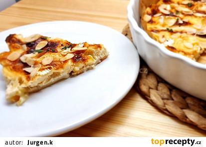 CLAFOUTIS - Koláč s chřestem a camembertem, (pečené v remosce)