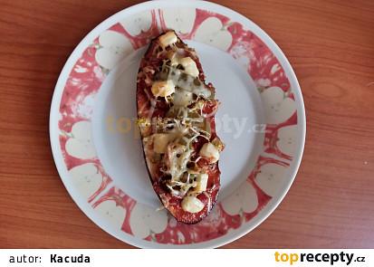 Zdravá lilková pizza